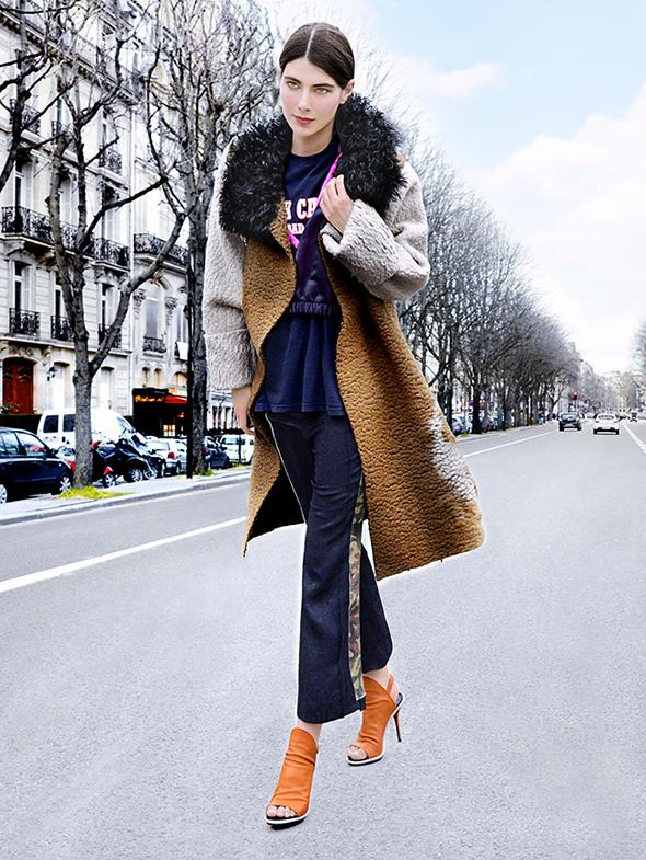 Ursina Gysi, Femme, PFW, Prêt à Porter _ Automne Hiver 2014 _2015, Photographié après le défilé Chloé, Street Style,Modemajeure